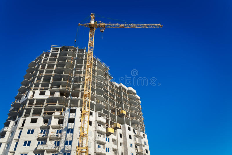 Download Two Tower Cranes Building Stock Photo - Image: 83720729