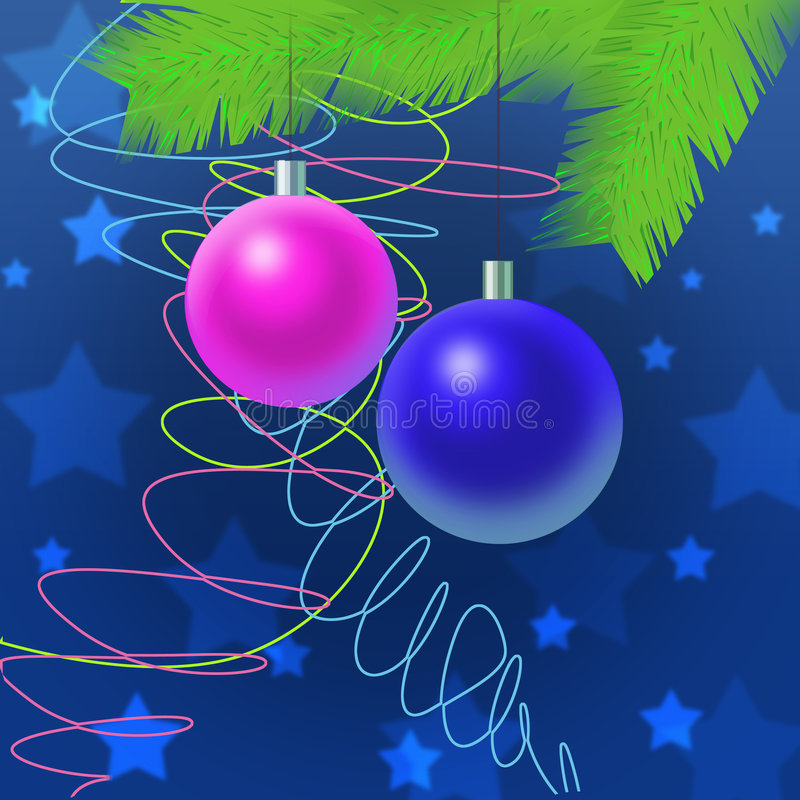 Two toys, christmas decoration royalty free stock image