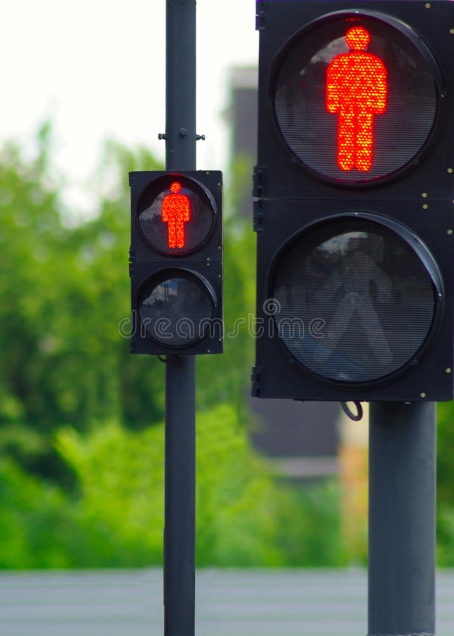 Download Two traffic lights stock photo. Image of protection, danger - 25497942