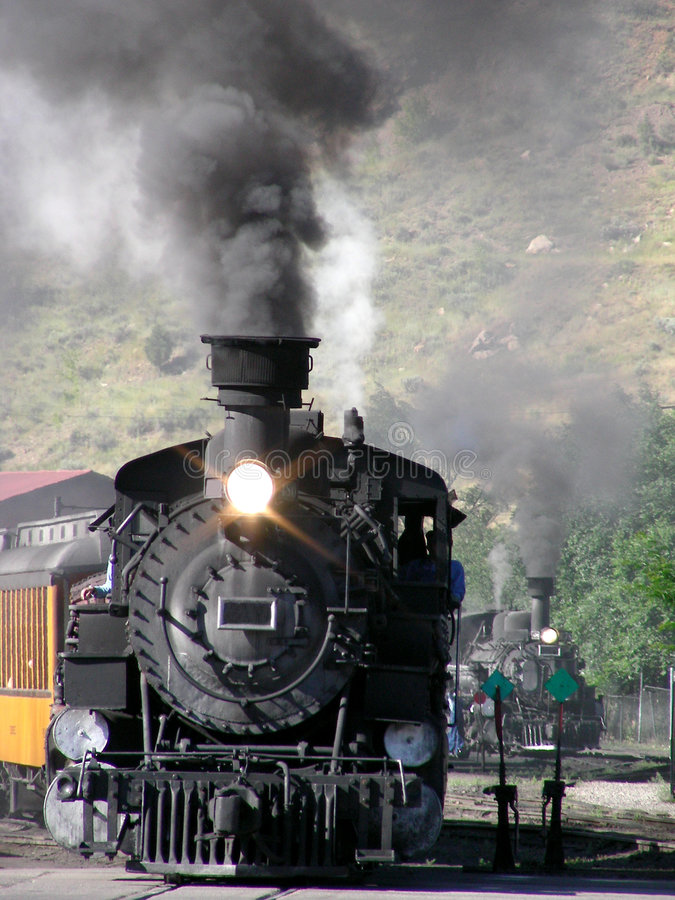 Download Two Trains stock photo. Image of west, steam, smoke, train - 2762656
