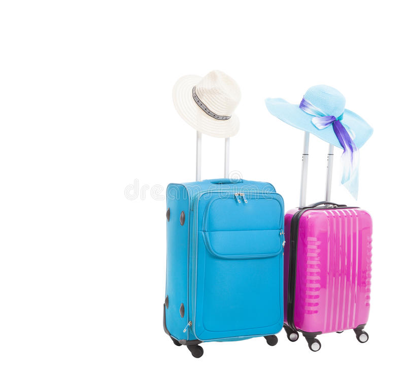 Two Travel Case With Hats Royalty Free Stock Photography