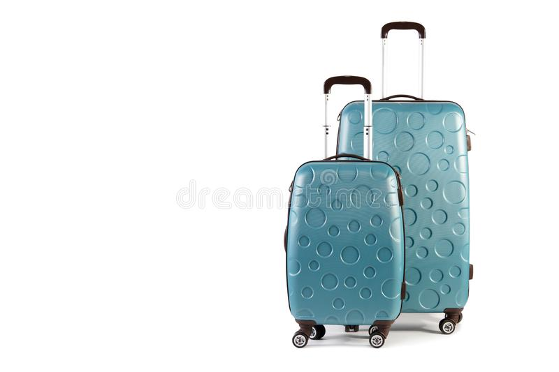Two travel suitcases stock photo