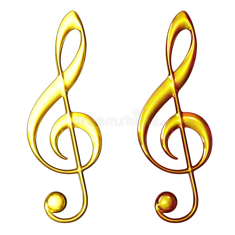 Two Treble Clef Royalty Free Stock Image