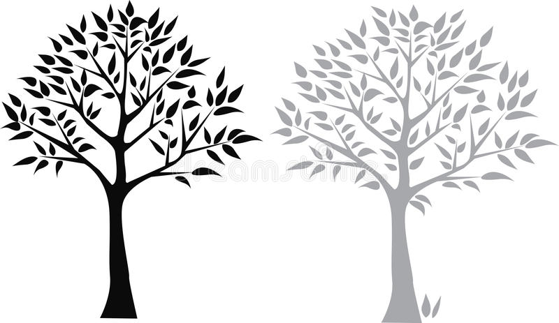 Download Two trees stock illustration. Illustration of icon, editable - 13446832