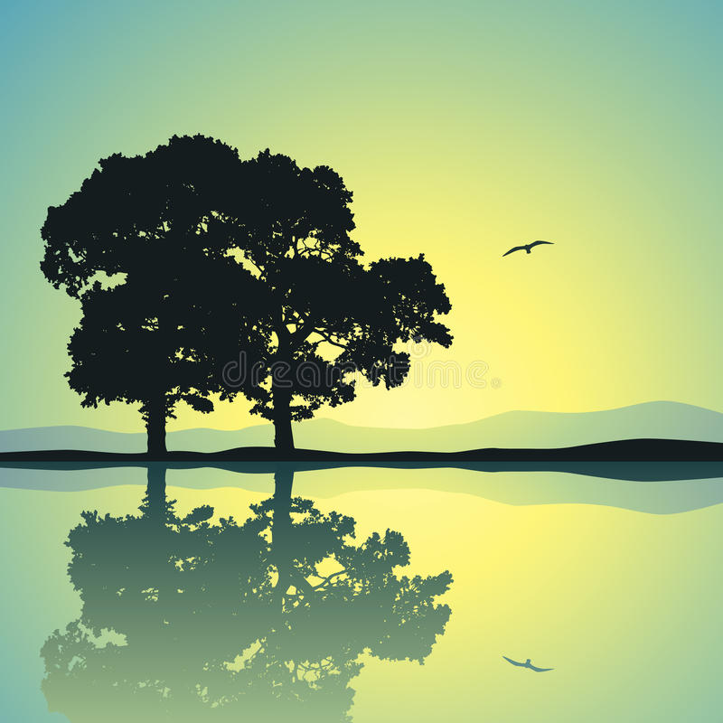 Two Trees stock illustration