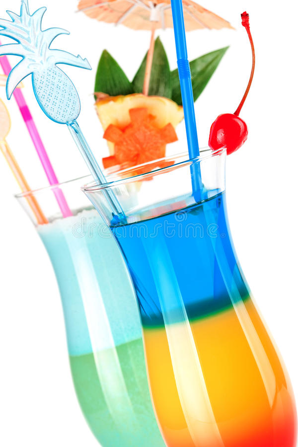 Download Two Tropical Cocktails With Decoration Stock Photo - Image of hurricane, color: 12732738