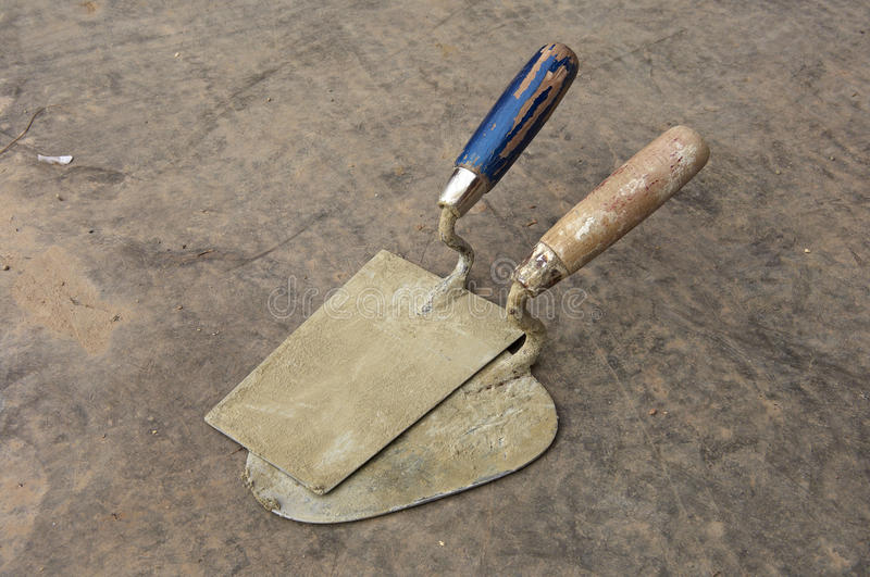 Download Two trowel stock photo. Image of recent, joint, concrete - 24838046