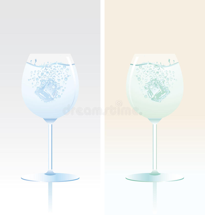 Two tulip glasses vector illustration