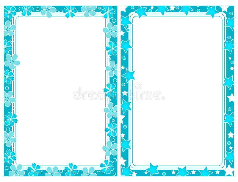 Two turquoise frames stock vector. Illustration of blank - 13115396