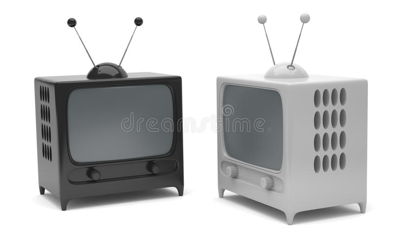 Download Two TVs stock illustration. Image of object, illustration - 22787465