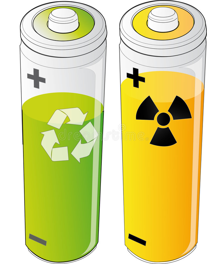Download Two types of energies stock illustration. Image of power - 5972772