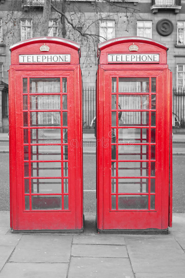 Download Two Typical London Red Phone Cabins Stock Photo - Image: 12975736