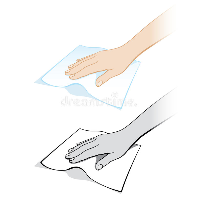 Free Two Variants Of A Womans Hand With A Rag Royalty Free Stock Photo - 19531215