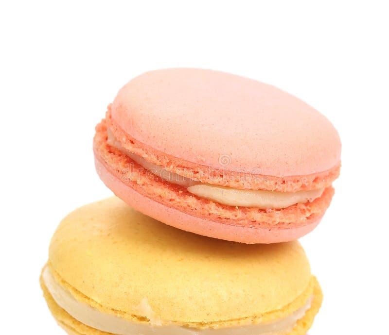 Two Various Macaron Cakes. Stock Photo
