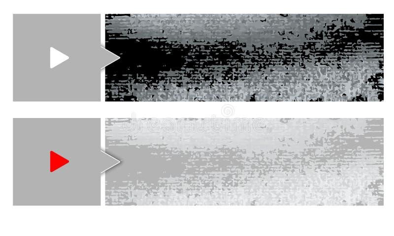 Two vector banner stock illustration