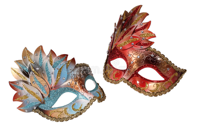 Two Venetian mask stock photography