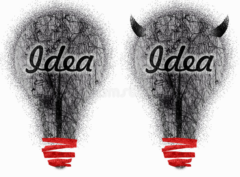 Download Two very dirty ideas stock illustration. Illustration of lamps - 7290665