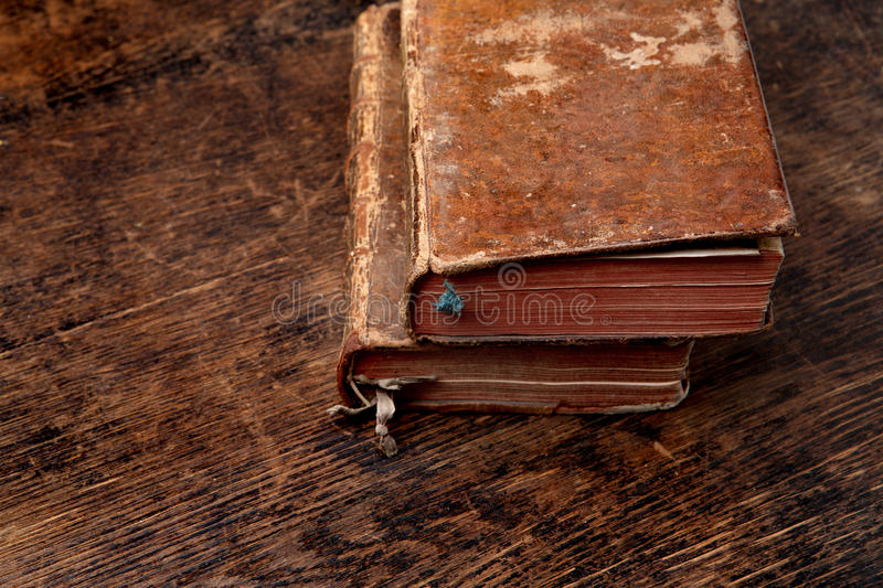 Two Very Old Books Royalty Free Stock Images