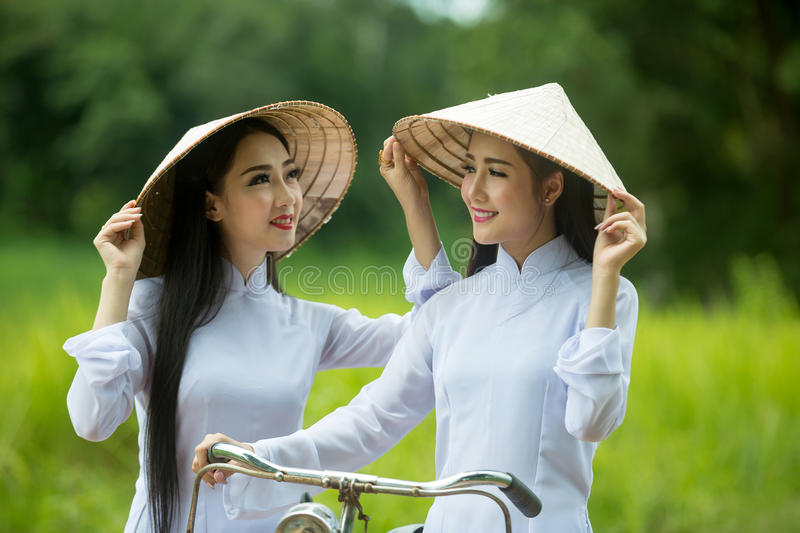 Two vietnam women stock photos