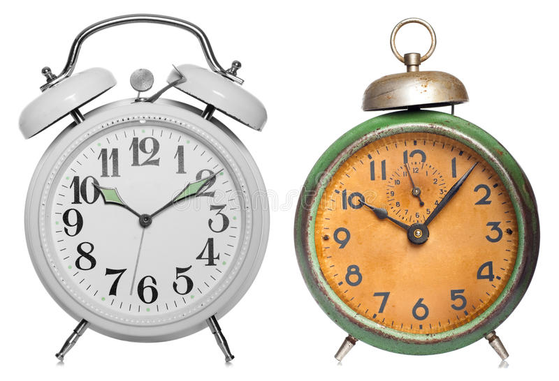 Download Two vintage clock stock image. Image of countdown, aging - 23129313
