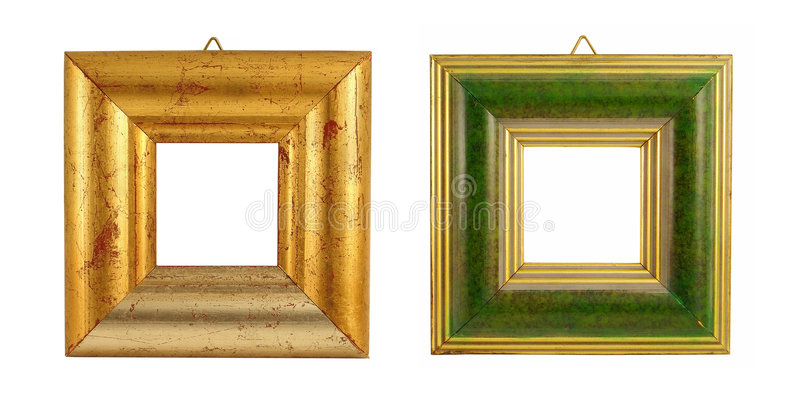 Two vintage frames royalty free stock photography