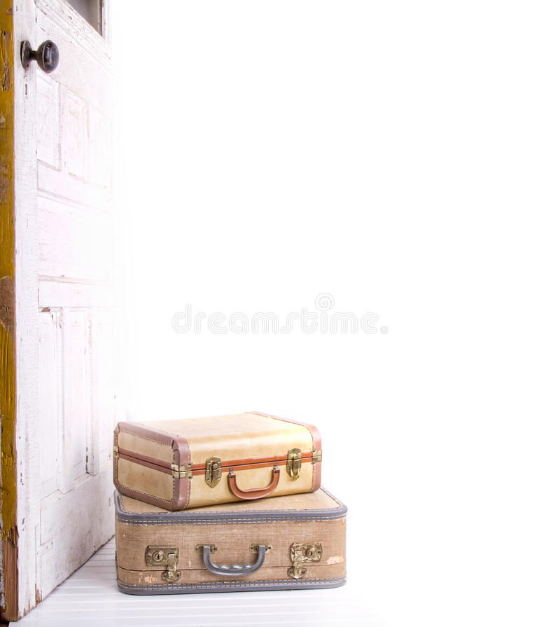 Download Two vintage suitcases stock image. Image of distressed - 26292589