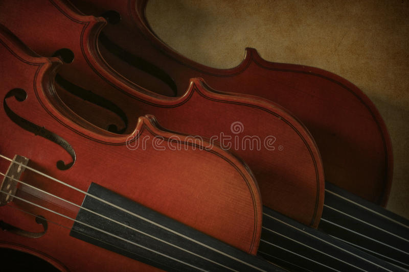 Two violins and a viola royalty free stock images
