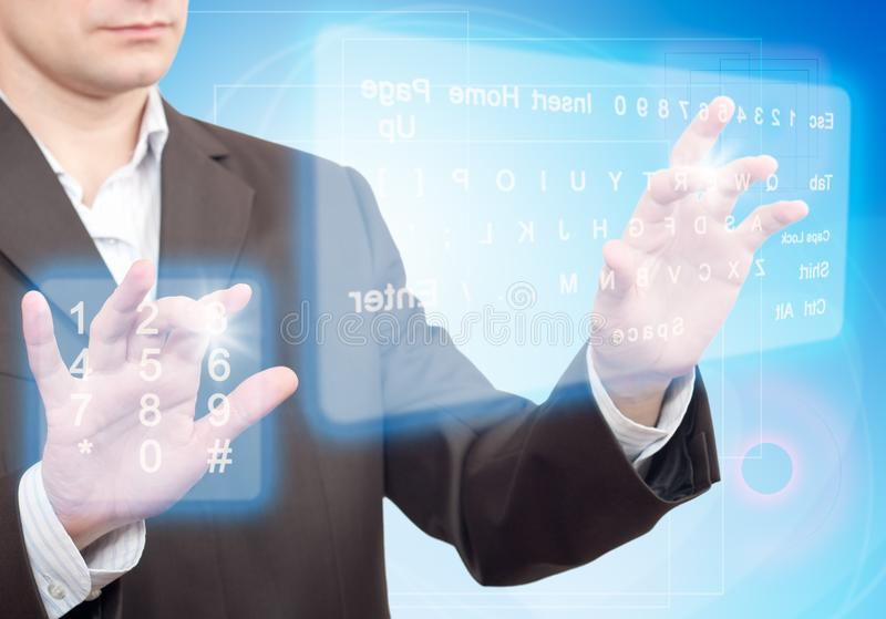 Two Virtual Keyboard stock images