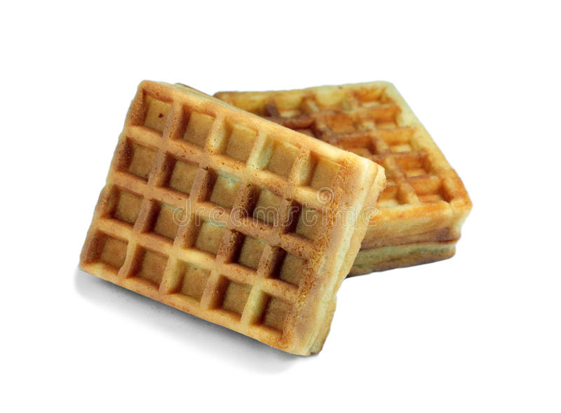 Two waffles stock images