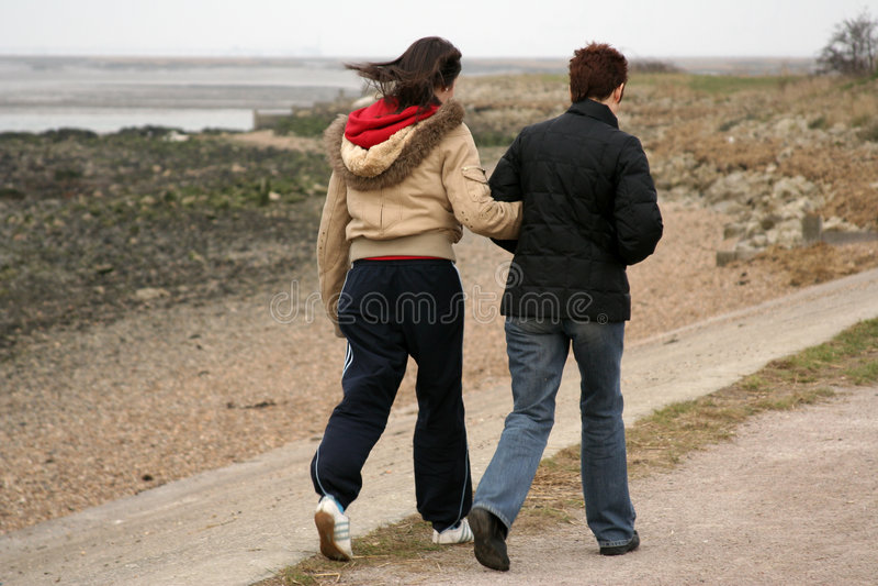 Download Two walkers on footpath stock image. Image of sisters, coastline - 100861
