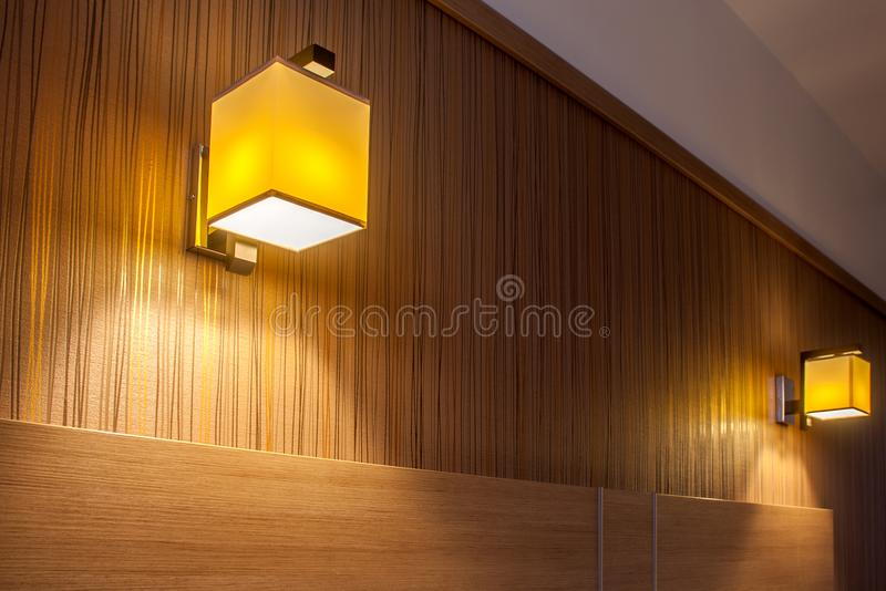 Two wall light sconces royalty free stock photography