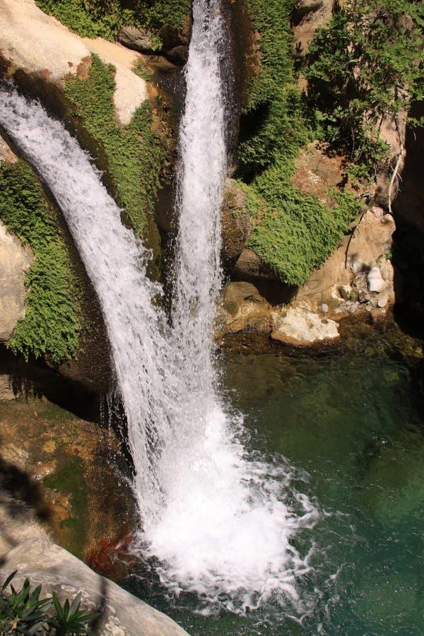Free Two Waterfalls Meet Royalty Free Stock Photo - 59296115