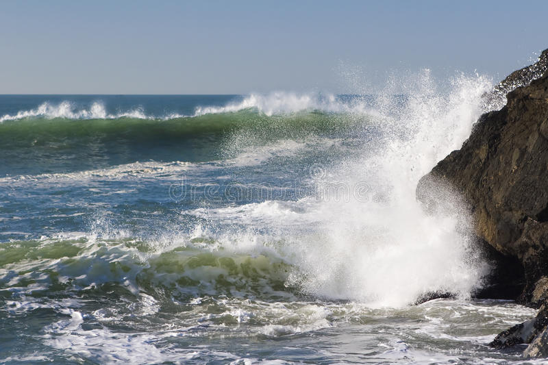 Download Two Waves stock image. Image of ocean, coast, cliff, tide - 13914885