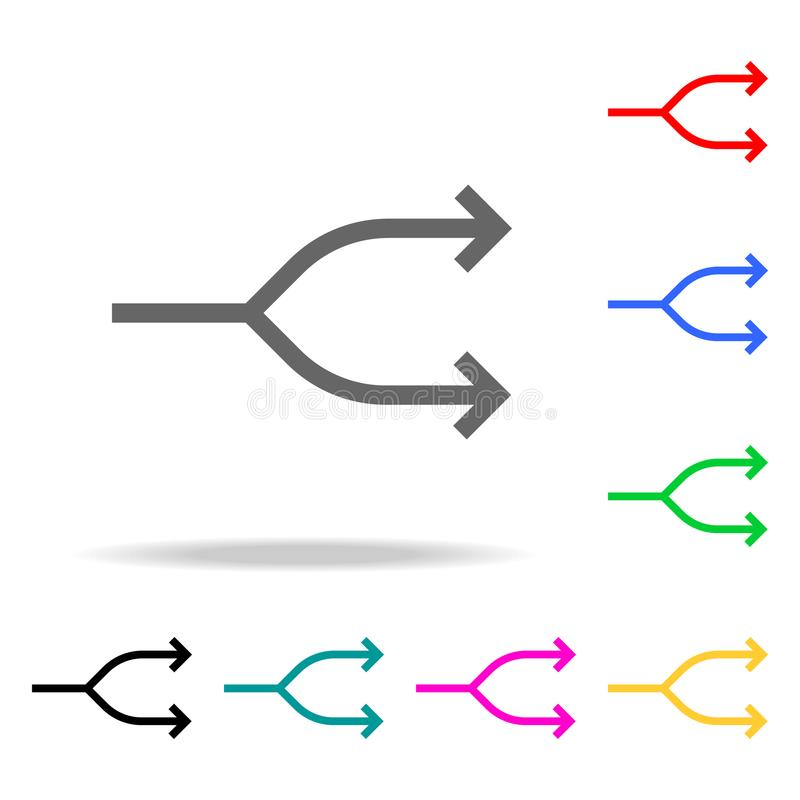 Two Way Arrow Symbol Arrow Icon Elements In Multi Colored Icons