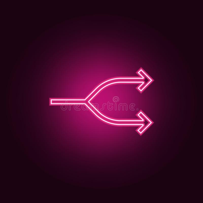 Two-way arrow symbol, arrow icon. Elements of Web in neon style icons. Simple icon for websites, web design, mobile app, info stock illustration