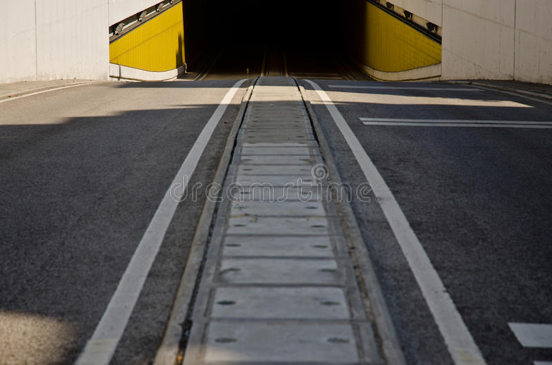 Download Two way road tunnel stock image. Image of sidewalk, mountain - 21411405