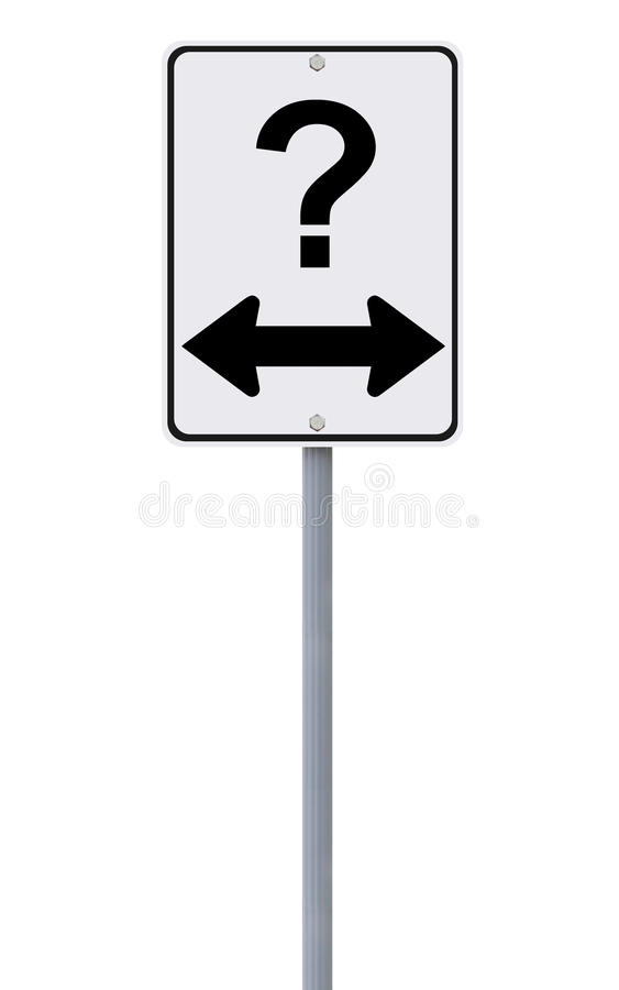 Download Two Ways? stock photo. Image of question, options, isolated - 29107866
