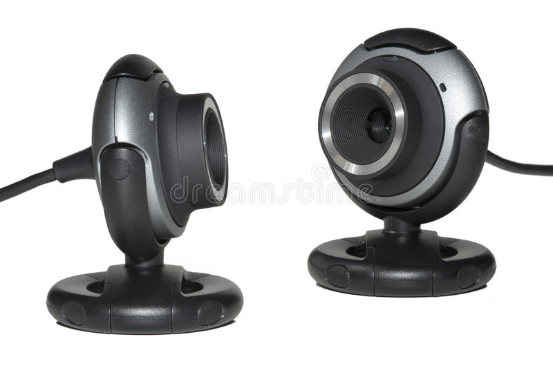 Two webcam stock image