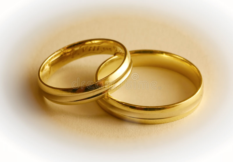 Two Wedding Rings stock photography