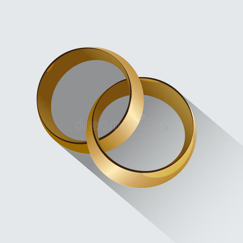 Two Wedding Rings Symbol Of Love Stock Vector Illustration Of