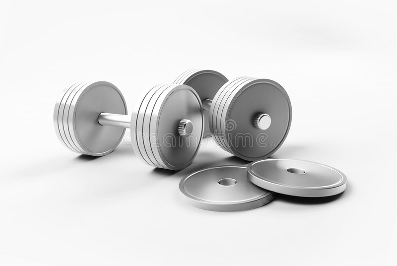 Two weights stock photo