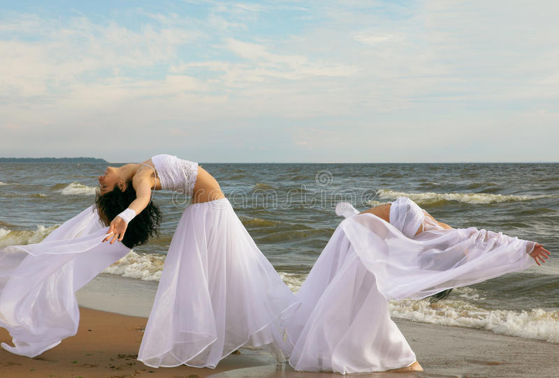 Download Two White Angels On The Beach Stock Images - Image: 10581694