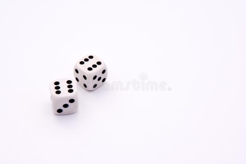 Lucky dices on a white background royalty free stock photography