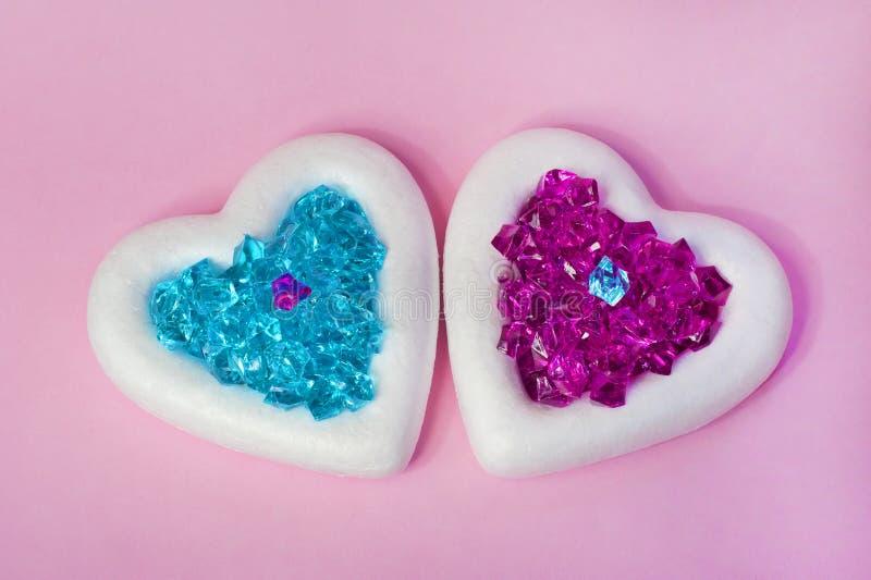 Two White Hearts royalty free stock photos