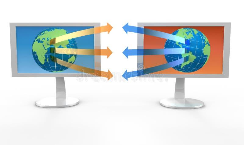 Download Two white monitors stock illustration. Image of plasma - 17527874