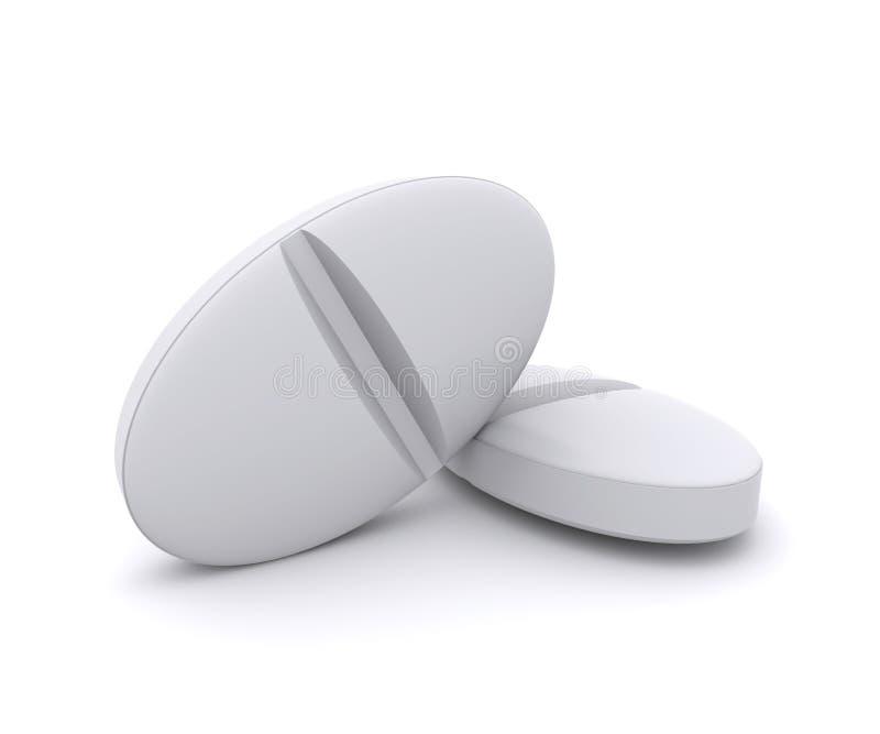 Two White Pills Royalty Free Stock Photos