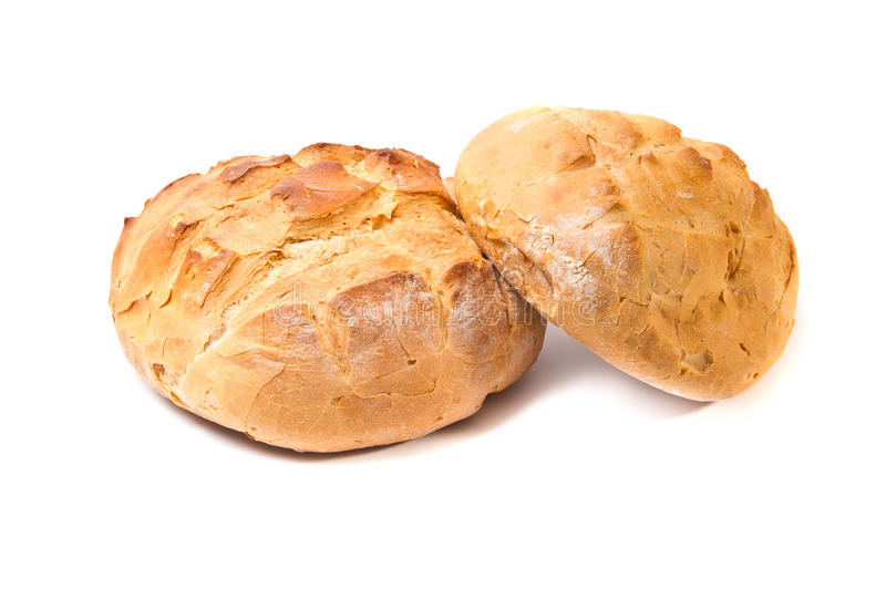 Download Two White Wheat Round Bread Loafs Stock Photo - Image: 19287702