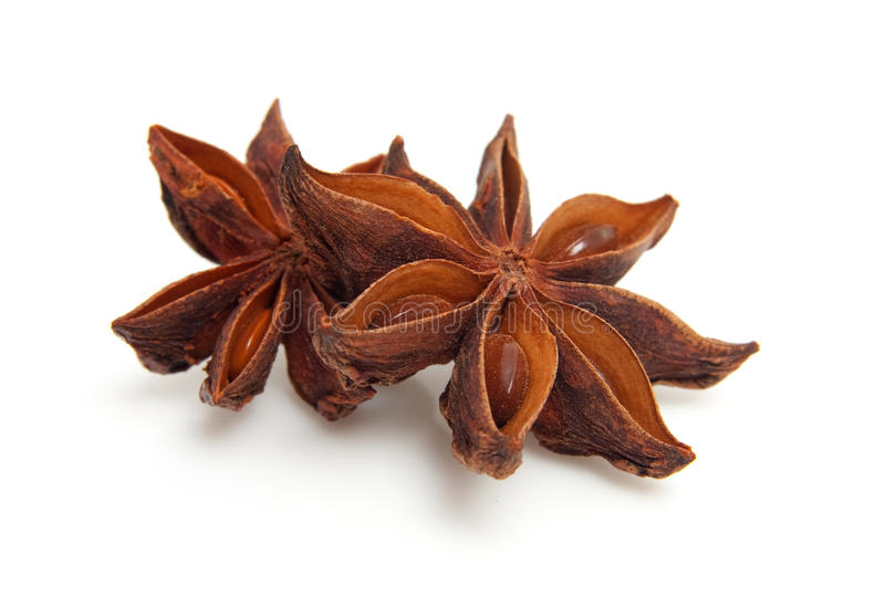 Download Two Whole Star Anise In Closeup Stock Photo - Image: 14432352