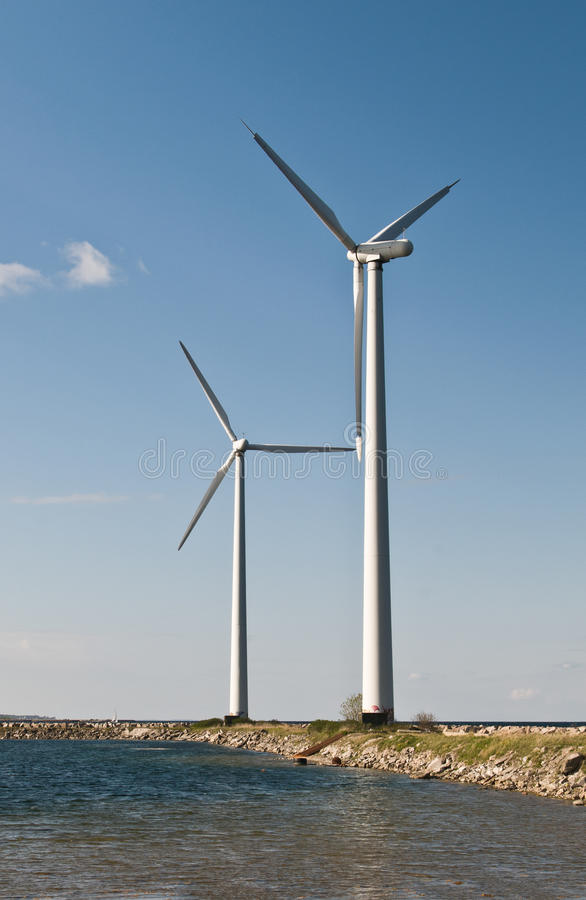 Free Two Wind Turbines Royalty Free Stock Image - 19393106