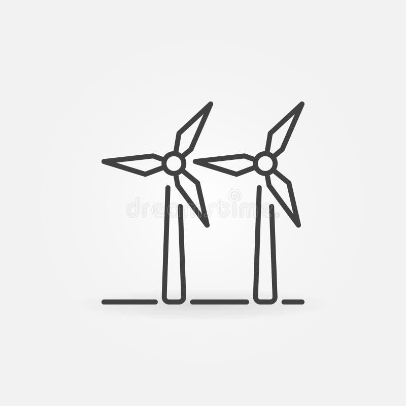 Free Two Wind Turbines Icon Stock Photo - 96158830
